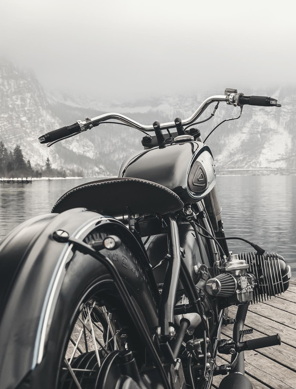 BMW_bobber_custom_motorcycle_lake_mountains_austria_side